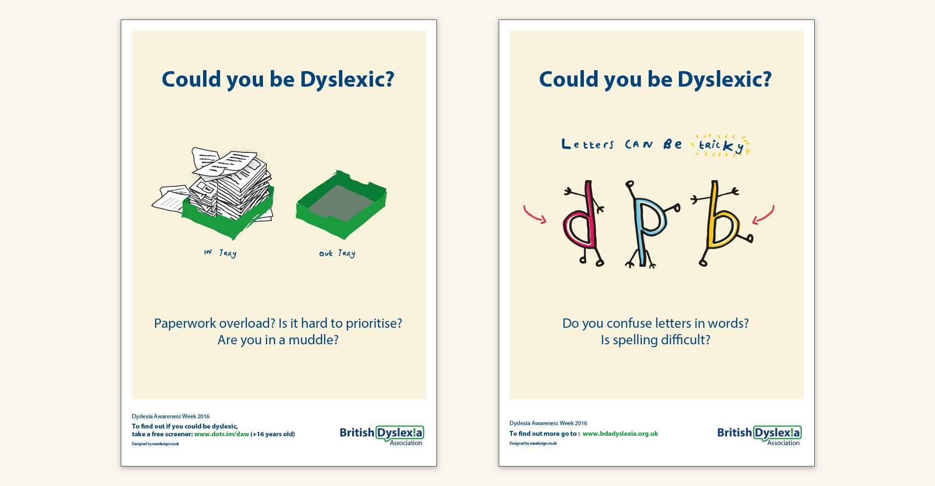 Dyslexia Awareness Campaign Upcoming >> British Dyslexia Association Neudesign